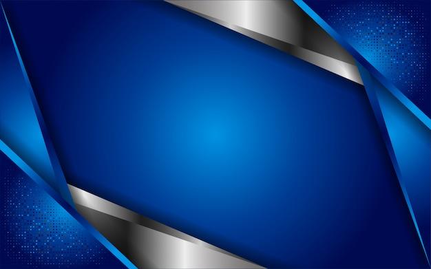 Luxuoso abstrato azul com linhas brancas