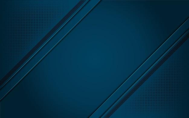 Luxuoso fundo azul escuro com uma combinação de prata metálica de linha em estilo 3d