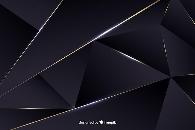 Luxuoso fundo escuro poligonal