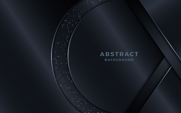 Luxuoso fundo preto com elementos de forma e pontos do círculo.