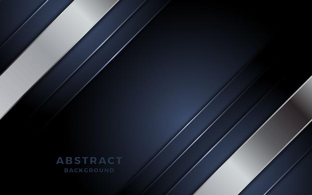Luxuoso fundo roxo escuro com combinação de linhas douradas. vetor premium