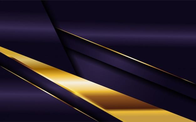 Luxuoso fundo roxo escuro com combinação de linhas douradas.