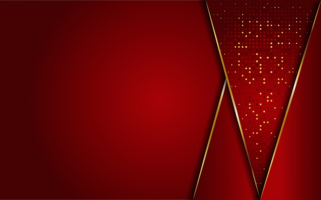 Luxuoso moderno abstrato vermelho e dourado linhas de fundo. fundo moderno elegante.