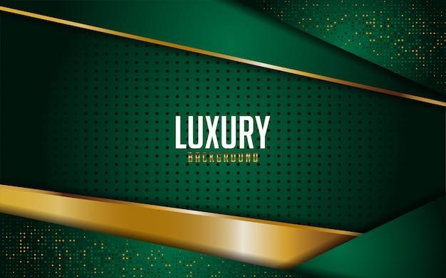 Luxuoso verde combina com linhas douradas