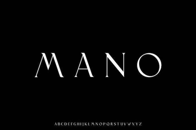 Luxury elegant font alphabet typeface