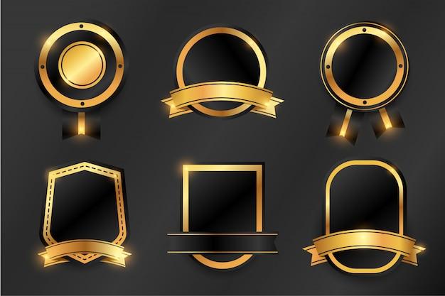 Luxury gold badges