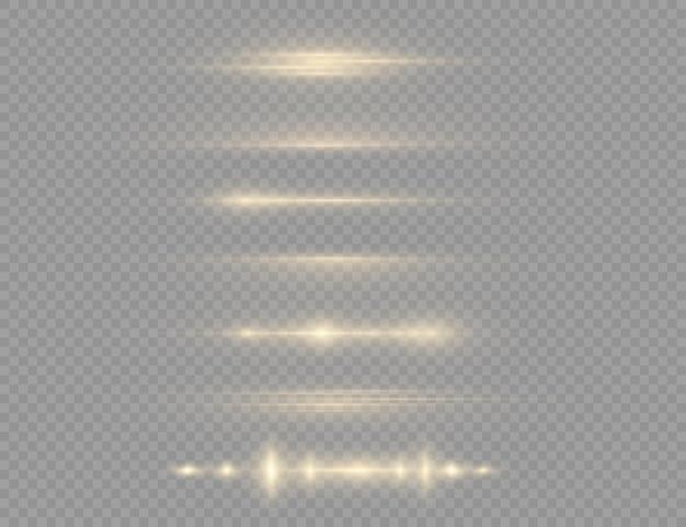 Luz amarela brilhante, feixe de laser
