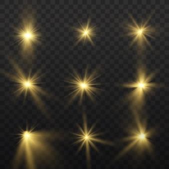 Luz amarela brilhante. sol brilhante estrela brilhando