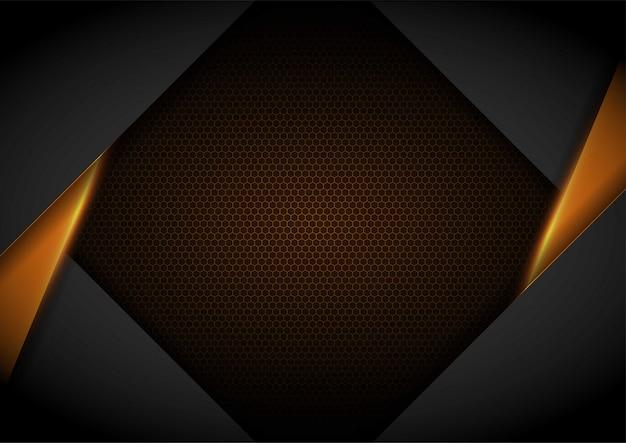 Luz amarela com fundo de malha ondulada modelo de layout de capa