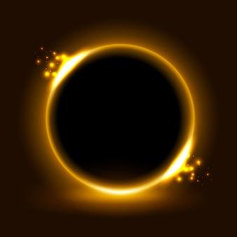 Luz amarela do círculo