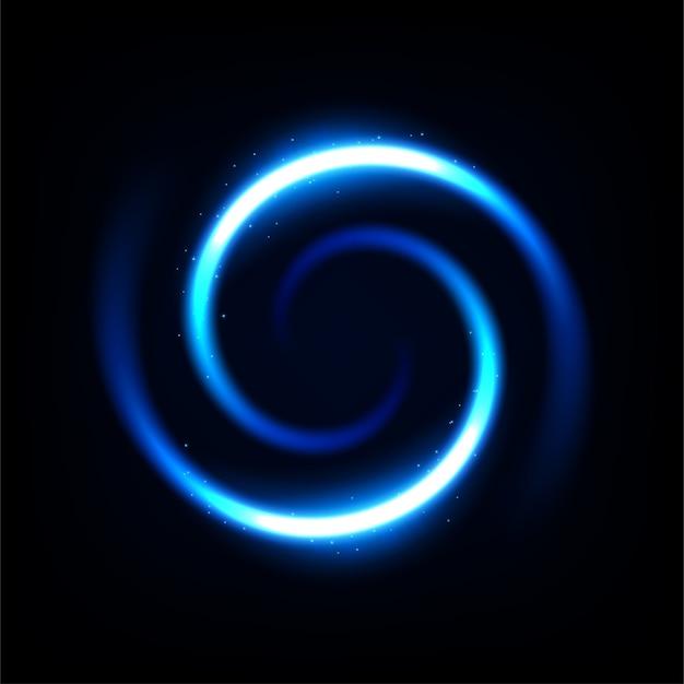 Luz azul redonda torcida
