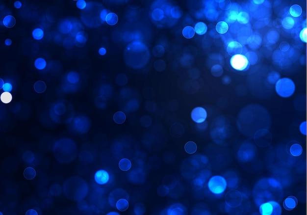 Luz bokeh azul turva