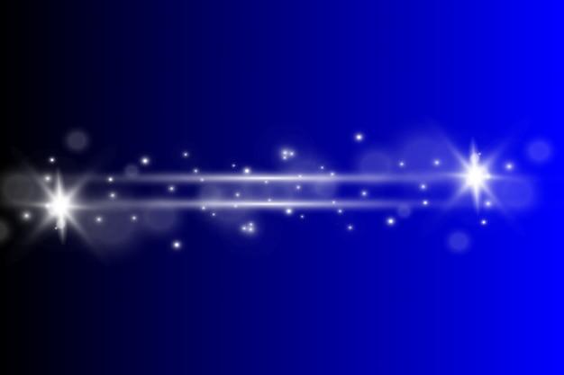 Luz branca brilhante explode. partículas de poeira mágica cintilante. estrela brilhante. sol brilhante e transparente, flash brilhante. brilhos de vetor. para centralizar um flash brilhante.