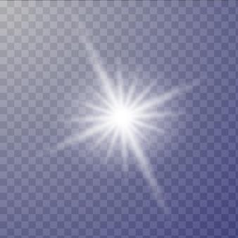 Luz branca brilhante explode.