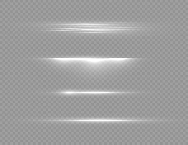 Luz branca brilhante, feixe de laser