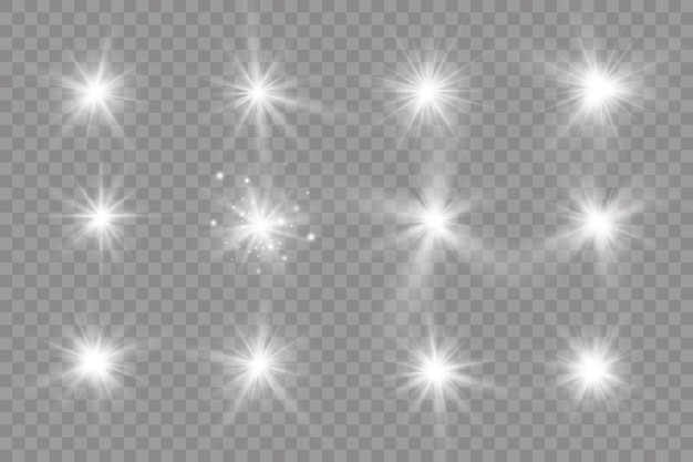 Luz branca brilhante. sol brilhante estrela brilhando