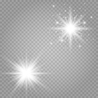 Luz branca com brilho