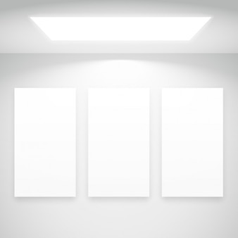 Luz branca com molduras