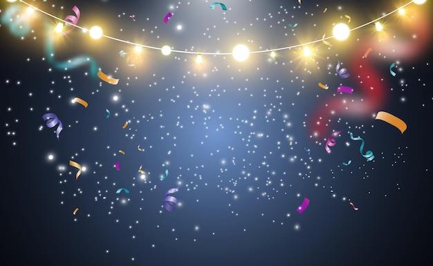 Luz brilhante e bonita. luzes brilhantes, garlands.
