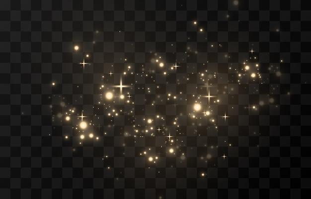 Luz cintilante, brilho cintilante pó cintilante. pó mágico cintilante.