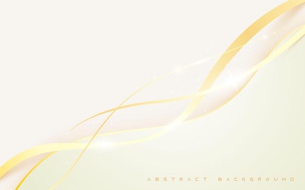 Luz cintilante dourada abstrata de fundo branco moderno
