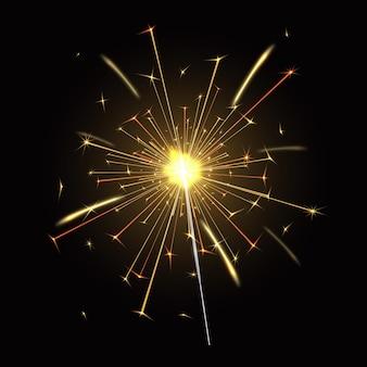 Luz cintilante realista de fogo de bengala