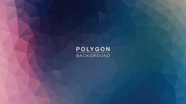 Luz da galáxia do polígono