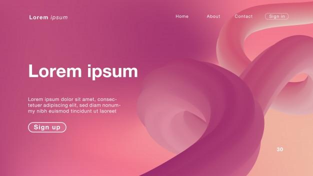 Luz de curva-de-rosa abstrata de fundo para a página inicial