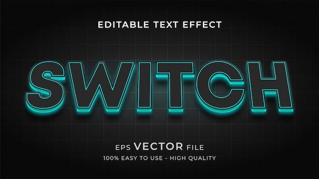 Luz de fundo led conceito de efeito de texto editável