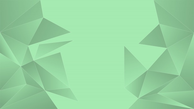 Luz de fundo poligonal verde.