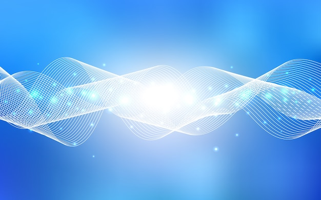Luz de fundo vector azul com confete de natal