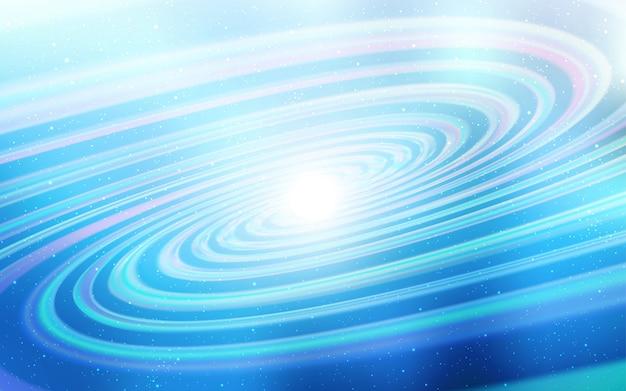 Luz de fundo vector azul com estrelas da galáxia.