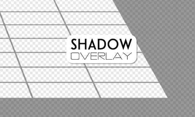 Luz de janela realista, luz solar, efeitos de sombra de sobreposição transparente.