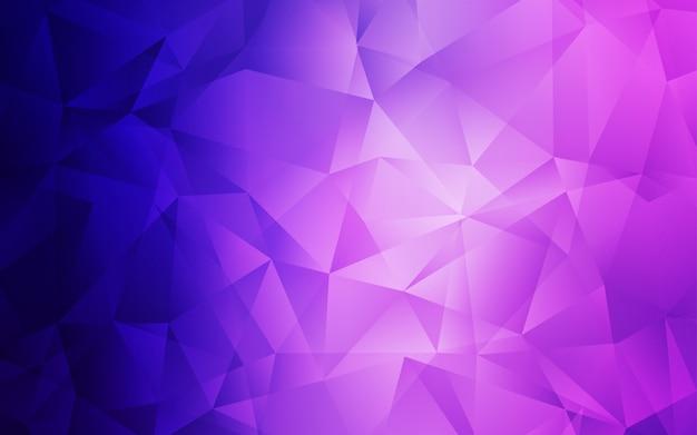 Luz de modelo de poligonal abstrata de vetor roxo, rosa.