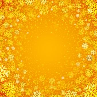 Luz de natal com flocos de neve. de fundo vector