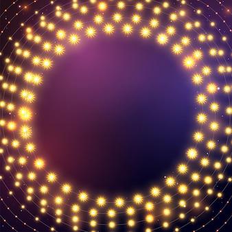 Luz de natal. guirlanda de cor brilhante. decoração para festa, festa ou festa de aniversário.