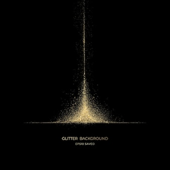 Luz de poeira estelar dourada, fundo brilhante