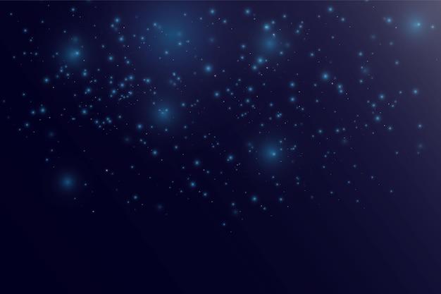 Luz desfocada bokeh em fundo escuro. modelo de feriados de natal e ano novo.