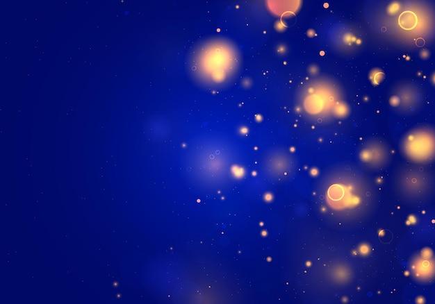 Luz desfocada do bokeh. brilho abstrato desfocado estrelas piscando e faíscas.