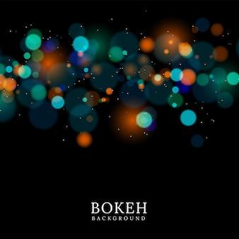 Luz desfocada do bokeh em fundo preto