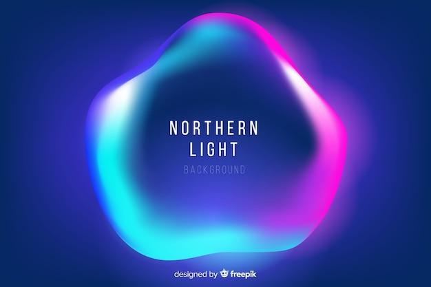 Luz do norte com forma líquida ondulada
