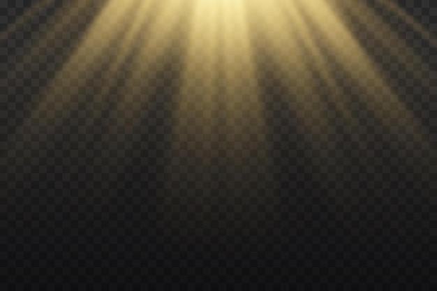 Luz do sol com explosão brilhante de raios de sol