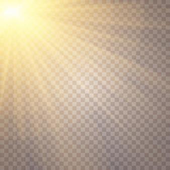 Luz do sol, estrela que brilha, lantejoulas cintilantes, lente de brilho do sol cintila reflexo da luz do sol, efeito de luz
