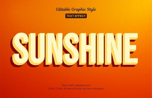 Luz do sol laranja, efeito de estilo de texto editável