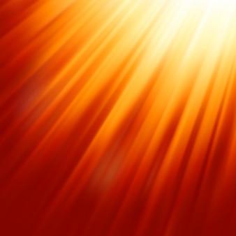Luz do sol quente.