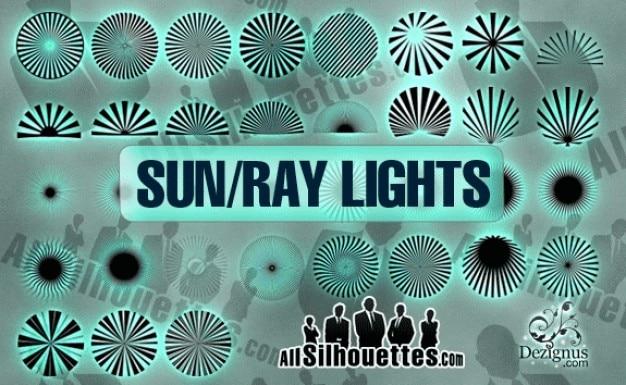 Luz do sol vetor