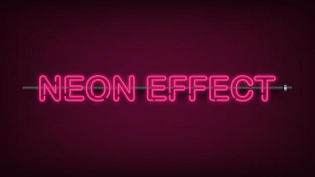 Luz efeito neon