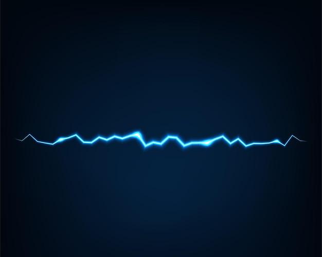 Luz elétrica do vetor abstrato. efeito de flash de faísca. linha curva brilhante. curvas brilhantes de néon.