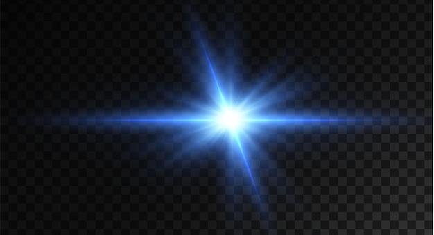 Luz estrela azul png luz sol azul png luz flash azul png ilustrador vetorial