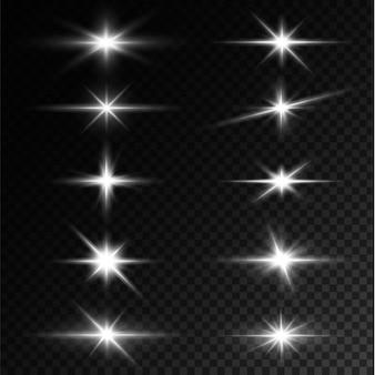Luz estrela branca png luz sol branca png luz flash branca png ilustrador vetorial